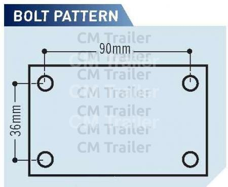 BOLT PATTERN - MILD STEEL COUPLINGS
