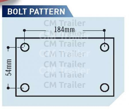 Off-Road Polyblock Coupling - bolt pattern