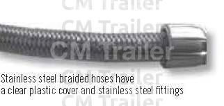 Stainless steel braided hose have a clear plastic cover