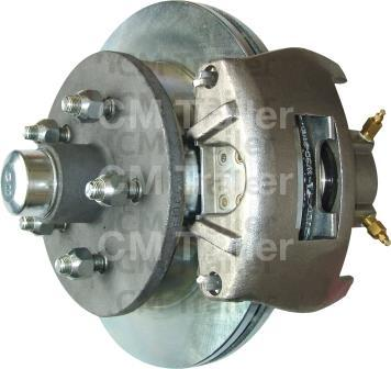 3500kg hydraulic vented disc brake